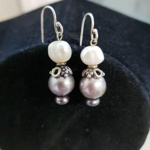Tahitian & Freshwater Pearls Drop Earrings
